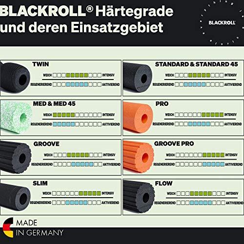 BLACKROLL STANDARD Faszienrolle – das Original (Härtegrad mittel) – Selbstmassage-Rolle für die Faszien in schwarz + Booklet - 2