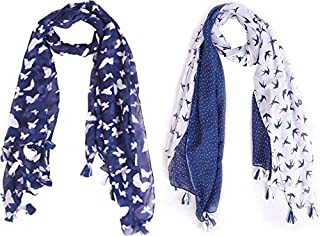 0f01aece5 Raiter by Ziva Fashion Printed Poly Cotton Women's Scarf, Stole (pack of ...