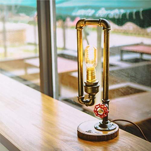 Kinen Helles Licht Wassertischlampe kreative Lampe Schlafzimmer Nachttischlampe Retro Art-Deco-Lampen Laterne Industrie. waq