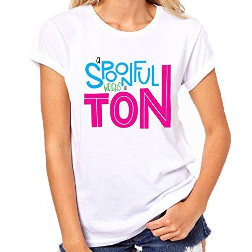 Lepel gewichten een Ton Typography T-Shirt Womens Classic T-Shirt