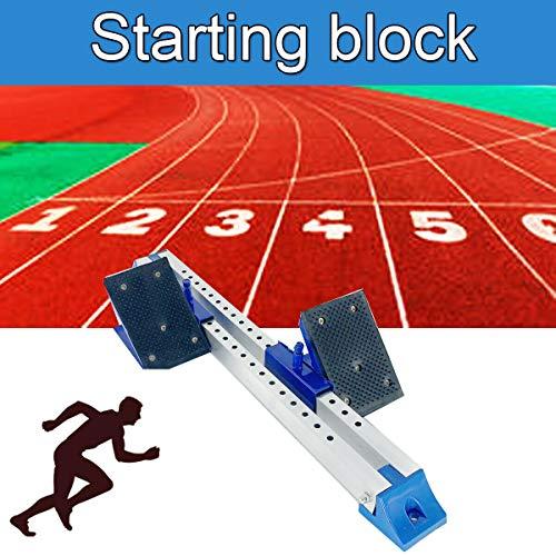 HOTSTORE Starting Block Multi-Function Starting Block Aluminum Suitable for Plastic Runway Cinder Track