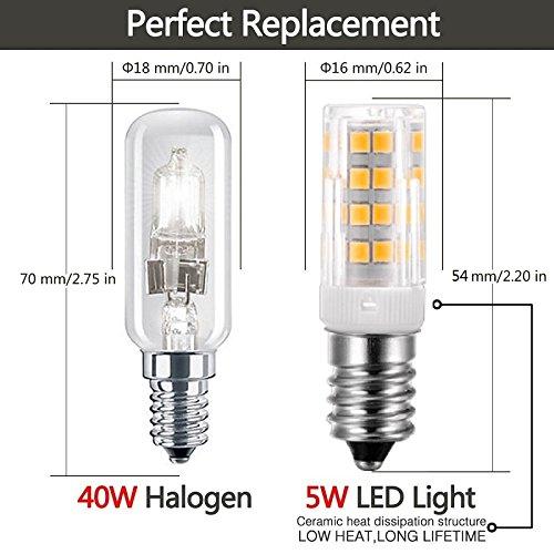 Vlio E14 5W LED Light Bulb 10 Pack, Cool White 6000K, 40W Incandescent Bulb Equivalent, 400LM 52 LED 2835-SMD Light, Not Dimmable, AC110V