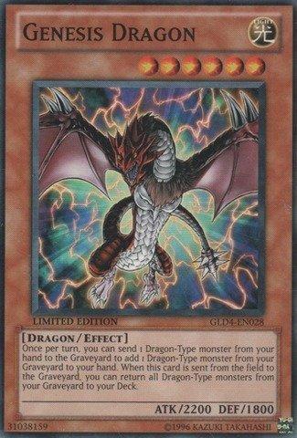 Yu-Gi-Oh! - Genesis Dragon (GLD4-EN028) - Gold Series 4: Pyramids Edition - Limited Edition - Common