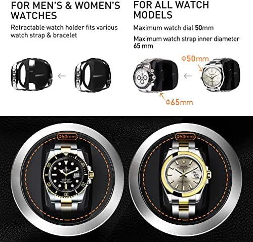 iRoll Single Watch Winder for Rolex, Automatic Watch Winder with Super Quiet Motor, 4 Rotation Mode Setting & Flexible Watch Pillow, Battery Powered Only - 6 Months+, Great for Travel WeeklyReviewer