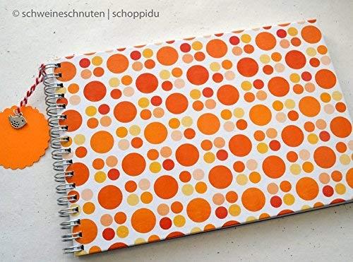 Ringbuch Gästebuch DIN A5 Retro Punkte orange