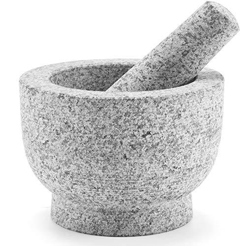 CO-Z Granite Mortar and Pestle Set for Guacamole Spice...