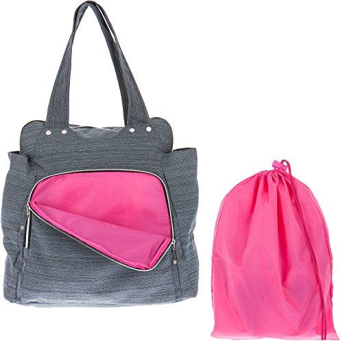 Alessandro Workout Sporttasche XL mit Gym Bag 12315 (Grau (Innen: Pink))