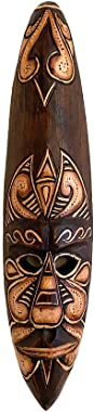 OMA African Wall Mask Tiki Tribal Fire Wooden Hand Crafted Wall Hanging Home Decor For Blessings And Luck