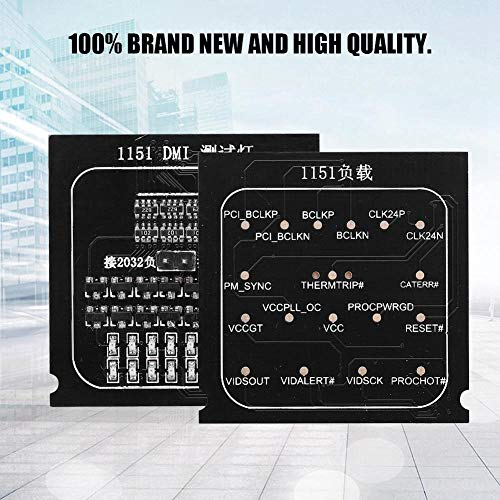 CPU Socket Tester, 2 in 1 LED High Quality Practical Loading Board 1151 Test Card Motherboard Tester