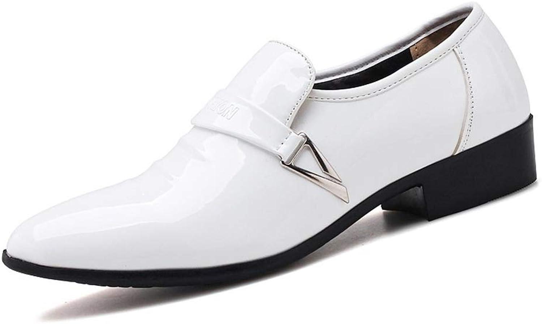 Mäns formella skor Bright Bright Bright läder Comfort Loafers Springaa  Fall Comfort Loafers och Slip -Ons bröllop Party, Evening Dress skor YAN (Färg  vit, Storlek  41)  rabattbutik