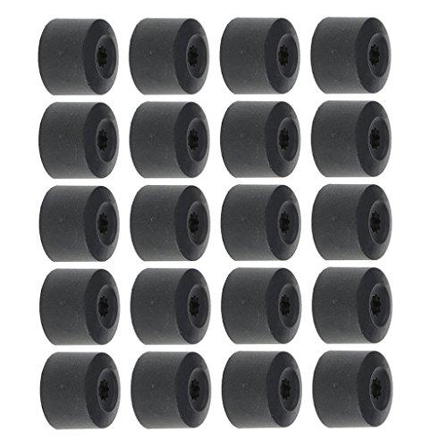 16pcs 17mm Hexágono + 4pcs 21mm Cubiertas de Tapones de Perno de Rueda Redonda para SEAT