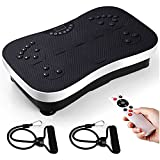 amzdeal Vibration Plate Exercise Machine - Whole Body Vibrating Fitness Platform w/Loop Bands Remote Home Training Equipment for Weight Loss by amzdeal
