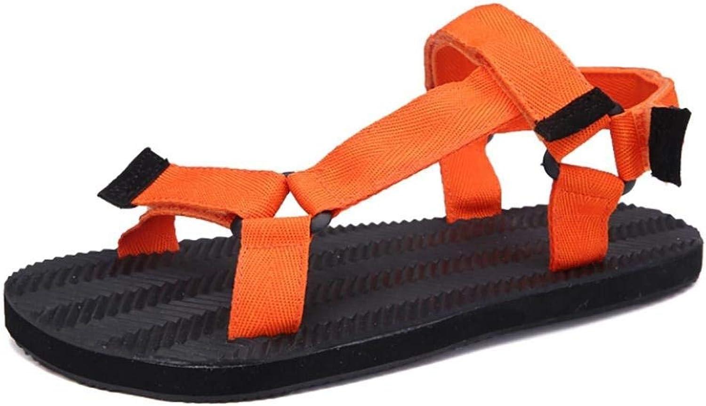 Yingsssq Unisex Hausschuhe & & & Flip-Flops Sommer Casual flachem Absatz, die andere Schwarz Blau Orange zu Fuß (Farbe   Orange, Größe   42)  a1601d