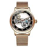 Relojes De Pulsera,Reloj Mecánico Automático con Esfera Hueca, Reloj Mecánico Automático, E