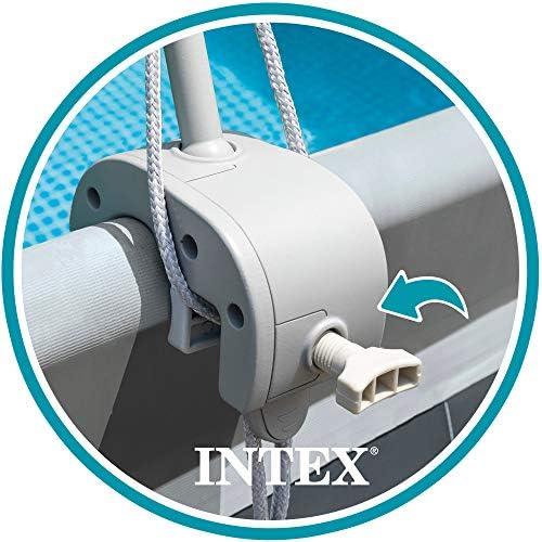 Intex 28054 - Toldo solar piscina, INTEX, para piscinas desmontables, largo 180 cm, con protección UV+50, tejido impermeable, Fácil de instalar, Metal Frame, XRT Frame 3