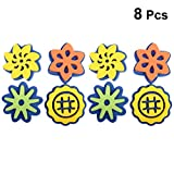 Exceart Schwamm Malerei Formen Schwamm Siegel Stempel Blumenmuster Handwerk Schwamm Frühen Graffiti Pädagogische Lernspielzeug für Baby Kinder Kleinkind 2 Sätze