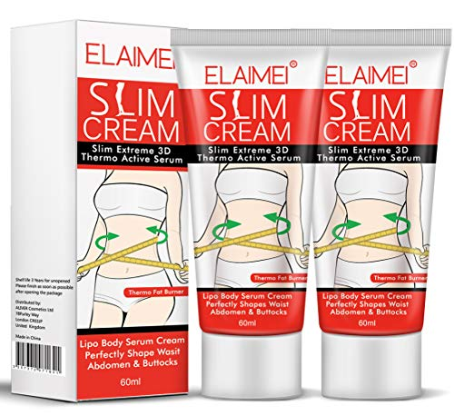 Slimming Hot Cream 2 Pack, Hot Belly Stomach Fat Burners Cellulite Cream for Women Waist Buttocks and Thighs , Flat Belly Firming Skin Tightening Body Massage Cream, Loose Weight Fast for Women