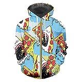 Frauen/Männer Lustige Druck Haifisch Essen Pizza 3D Sweatshirt Man Hip Hop Herbst Pullover Hoody...