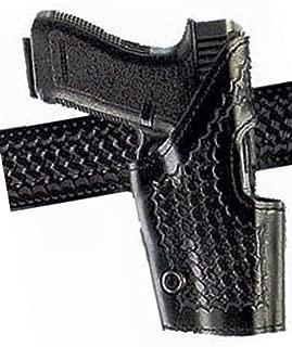 Safariland Model 295 Level II Retention Mid-Ride Holster Left Hand Glock 1719222331, Basket Weave Black