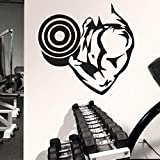 Esecuzione di fitness decalcomania fitness poster vinile muscolo adesivo decalcomania decorazione murale manubrio sticker club atleta decalcomania palestra fantasia camera da letto ali autoadesivo