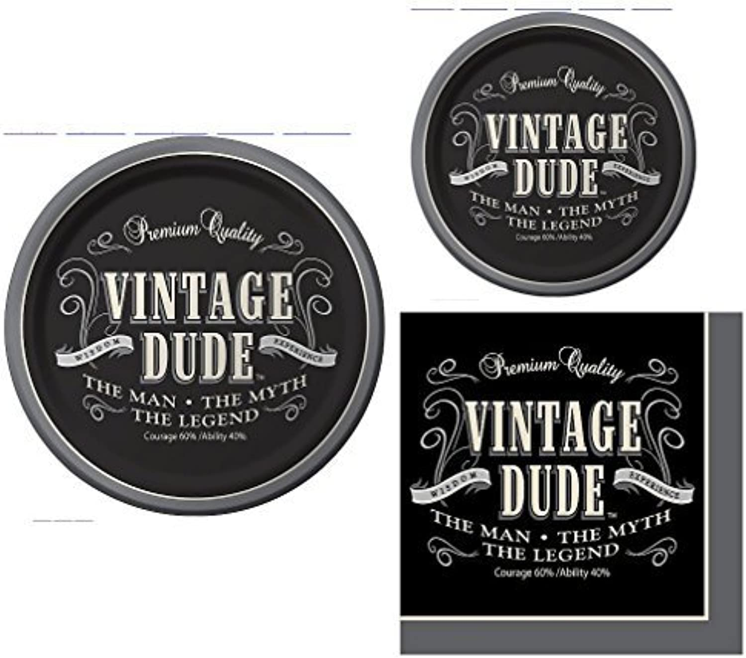 Vintage Dude the Man the Myth the Legend Party Pack for 16 by Paper Art