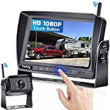 Yakry Y31 HD 1080P Digital Wireless Backup Camera Touch Button for RVs,Trucks,Campers,Trailers,Motorhomes with 170 Degree Wide View Angle 7'' Monitor Kit High-Speed Observation IR Night Vision