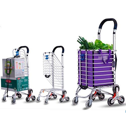WPW Leichte Einkaufswagen mit Kühner Spurstange Tragbarer Klappstiefelwagen Klappbar Transport Trolley Ideal für Reisen Camping (Größe : 8 Rounds)