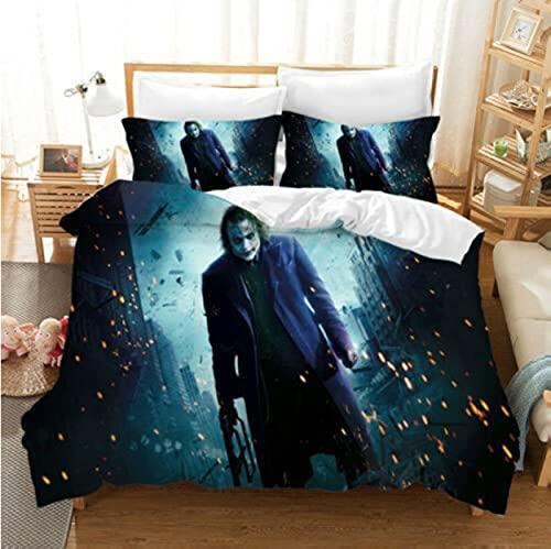 ysldtty 3D Bedding Set Stephen King'S It Horror Movie Clown Series Duvet Cover Home Textile H2856U 220CM x 240CM With 2 pice pillowcase 50CM x 75CM