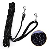 PETTOM Dog Training Lead Long 10m / 30FT Dog Line Extra Long Heave Duty Reflective Dog Leash for Small Medium Large Dogs Tracking Recall Training Outdoor