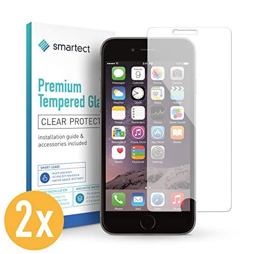 smartect Beschermglas compatibel met iPhone 6 Plus / 6s Plus [2 stuks] - screen protector met 9H hardheid - bubbelvrije beschermlaag - antivingerafdruk kogelvrije glasfolie
