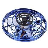 Bicaquu Peonza giratoria de inducción, Mini dron Giratorio de 360 Grados, Juguete Volador de inducción, Juguete Volador de Entretenimiento,(Set of Flynova Blue)