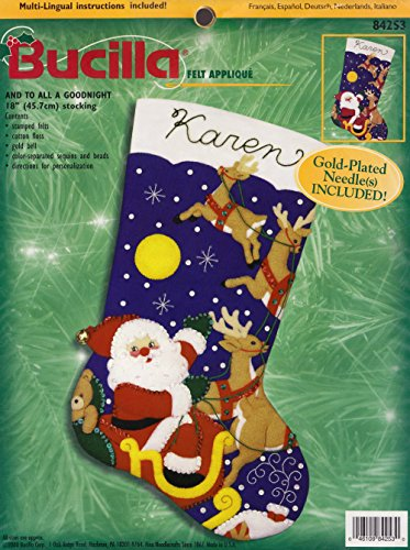 """Bucilla """"And To All A Goodnight"""" Felt Applique Stocking Kit 84253"""