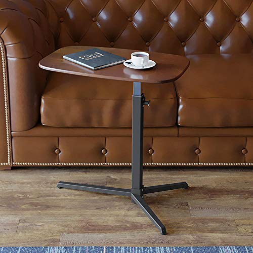 TTXP Acero Carbono Mesas De Comedor Extensibles con Tablero De Densidad Roja,Altura Ajustable, Ruedas Bloqueables,Mesa De Comedor para Home Office Mobile