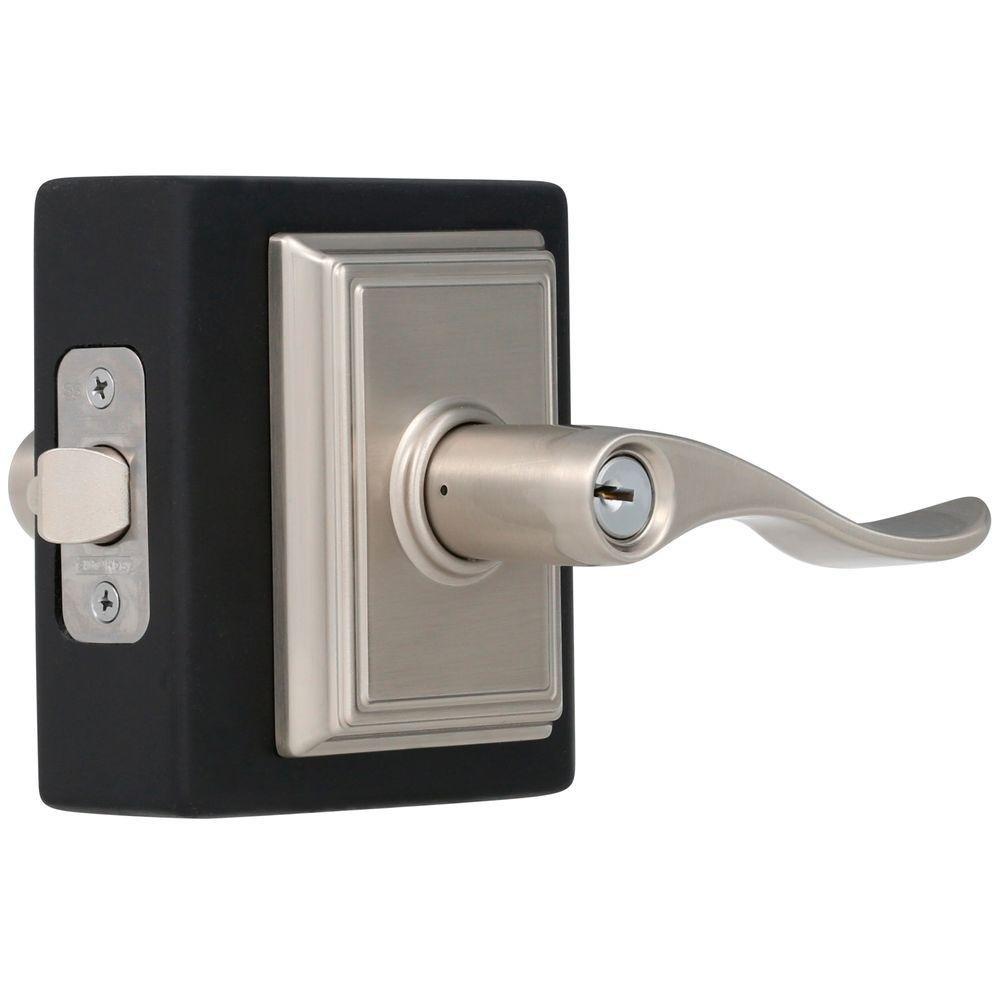 Schlage Accent Keyed Entry Lock Lever Set Satin Nickel Door Knob F51AACC619 NEW