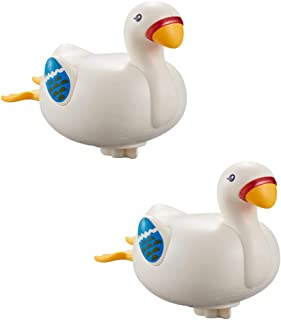 TOYANDONA 2PCS Cute Goose Baby Bath Toys Duck Bathtub Toys Toddlers Swimming Floating Playing Set for Toddlers Boys and Girls