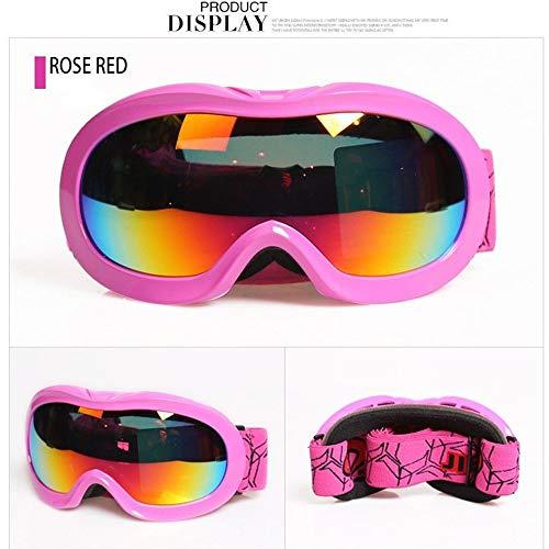 Mawson Cómodo y versátil Anti-Niebla Gafas de esquí Gafas Anti-Sandstorm Big Ski Ski Montañismo Snow Goggles Modelos Niños Moda Casual (Color : 1, Size : 155 * 80mm)
