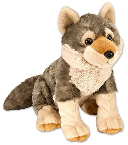 Wild Republic 10963 Republic Plüsch Wolf, Cuddlekins Kuscheltier, Plüschtier, 30cm