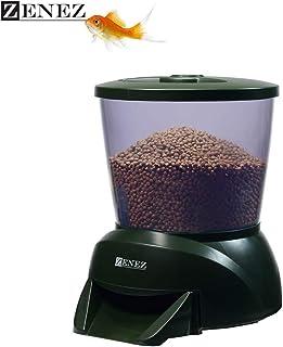 ZENEZ Alimentador Automático Acuario Multifuncional Comedero Peces Automático con Pantalla Adecuado para Acuario, Tanque de