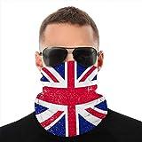 Vbndfghjd - Funda de microfibra para cuello deportivo, resistente al viento, a prueba de polvo, bandera shabbritánica GB grunge estilo bufanda tubo