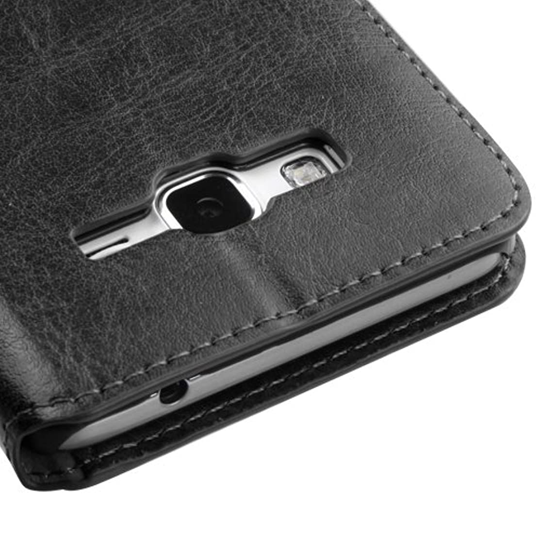 Wydan Case for Samsung Galaxy Grand Prime G530, Go Prime, Grand Prime Plus - Credit Card Leather Wallet Style Case Cover - Black