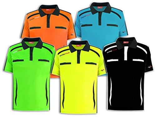 FossFour Schiedsrichter-Shirt Fox Kurzarm, Farbe:royal/schwarz, Größe:4XL