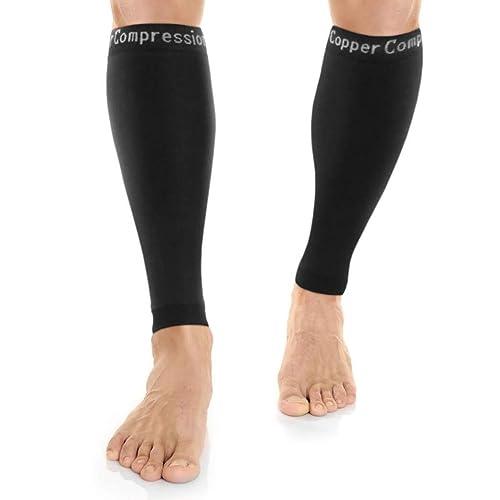 4c2e6cf23a Copper Compression Recovery Calf Sleeves - Shin Splint Leg Sleeves.  GUARANTEED Highest Copper Content +