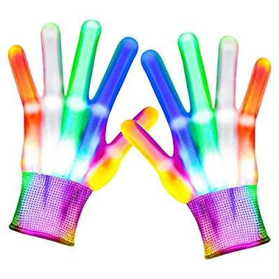 Toys for Boys Age 3-12, LED Flashing Gloves Cool Toy for Kids Boys Halloween Toys Christmas Birthday Gifts for 8-12 Boys Girls Novelty Toys for Boys Light Up Gloves Party Favors Stocking Stuffers for Boys Girls