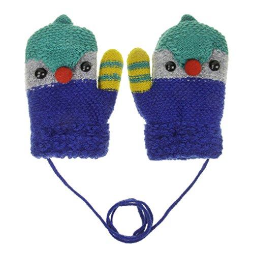 AfinderDE AfinderDE Kinder Kleinkind Winter Warme Handschuhe Doppel Strickhandschuhe Niedlich Cartoon Fäustlinge Handschuhe Strick Fingerlos Handschuhe Winterhandschuhe Fausthandschuhe für 2-6 Jahre