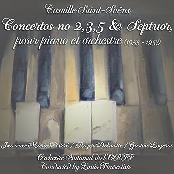 Saint-Saëns: Concertos No. 2, No. 3, No. 5 & Septuor, pour piano et orchestre (1955 - 1957)