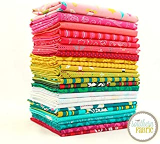 Andover Holiday Fat Quarter Bundle (24 pcs) by Alison Glass 18 x 21 inches (45.72cm x 53.34cm) Fabric cuts DIY Quilt Fabric