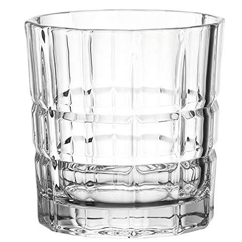 Leonardo Spiritii Trink-Gläser, 4er Set, 250 ml, spülmaschinenfeste Wasser-Gläser, Saft-Gläser mit Schliff, stoßfestes Gläser-Set, 022757