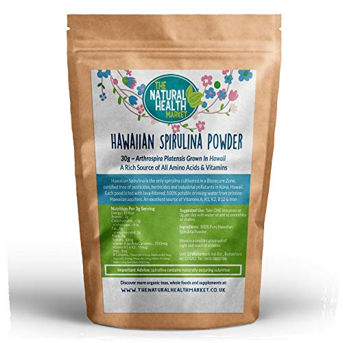 Hawaiian Spirulina Powder by The Natural Health Market (90g)