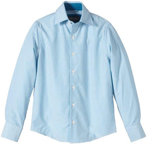 G.O.L. Jungen Hemd mit Eton-Kragen, Slimfit, Einfarbig, Gr. 140, GrÃ1/4n (petrol)
