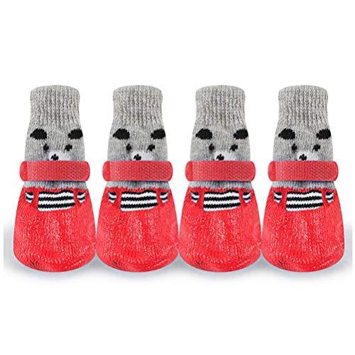Mumaya Calzado Deportivo de Invierno cálido para Perros pequeños, Lindo Calzado Impermeable para Mascotas